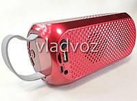 Портативная колонка bluetooth блютуз акустика для телефона мини с флешкой повербанк радио FM красная J29