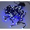 Гирлянда 100 LED 9м синяя на черном проводе 8mm, фото 2