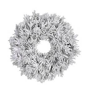 Венок ø 0,45 см. декоративный Dinsmore Frosted зеленый со снегом