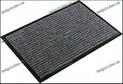 Грязезащитный ковер Рубчик-К  80х120см. серый