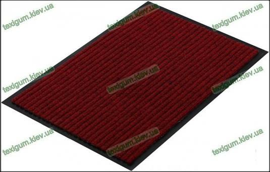 Грязезащитный ковер Рубчик-К  90х150см. красный