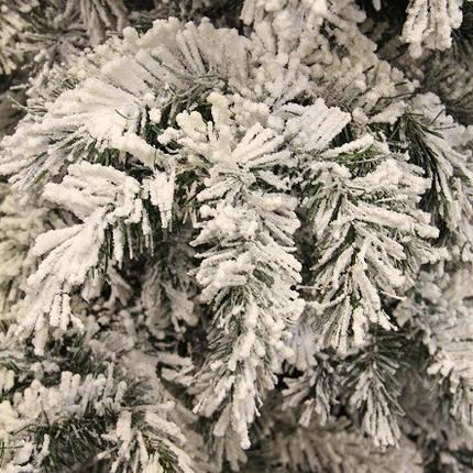 Венок ø 0,45 см. декоративный Dinsmore Frosted зеленый со снегом, фото 2