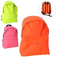 Рюкзак MK 1179 застежка-молния, наружный карман, 3 цвета, в кульке, 28-30-2см