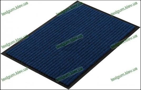 Грязезащитный ковер Рубчик-К  80х120см. синий