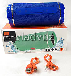Портативная блютуз колонка акустика bluetooth jbl для телефона мини с флешкой повербанк синяя Portable TG116