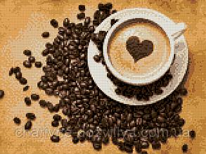 """Набор алмазной вышивки (мозаики) """"Кофе для любимых"""", фото 2"""
