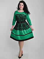 Платье БАТАЛ Ресничка