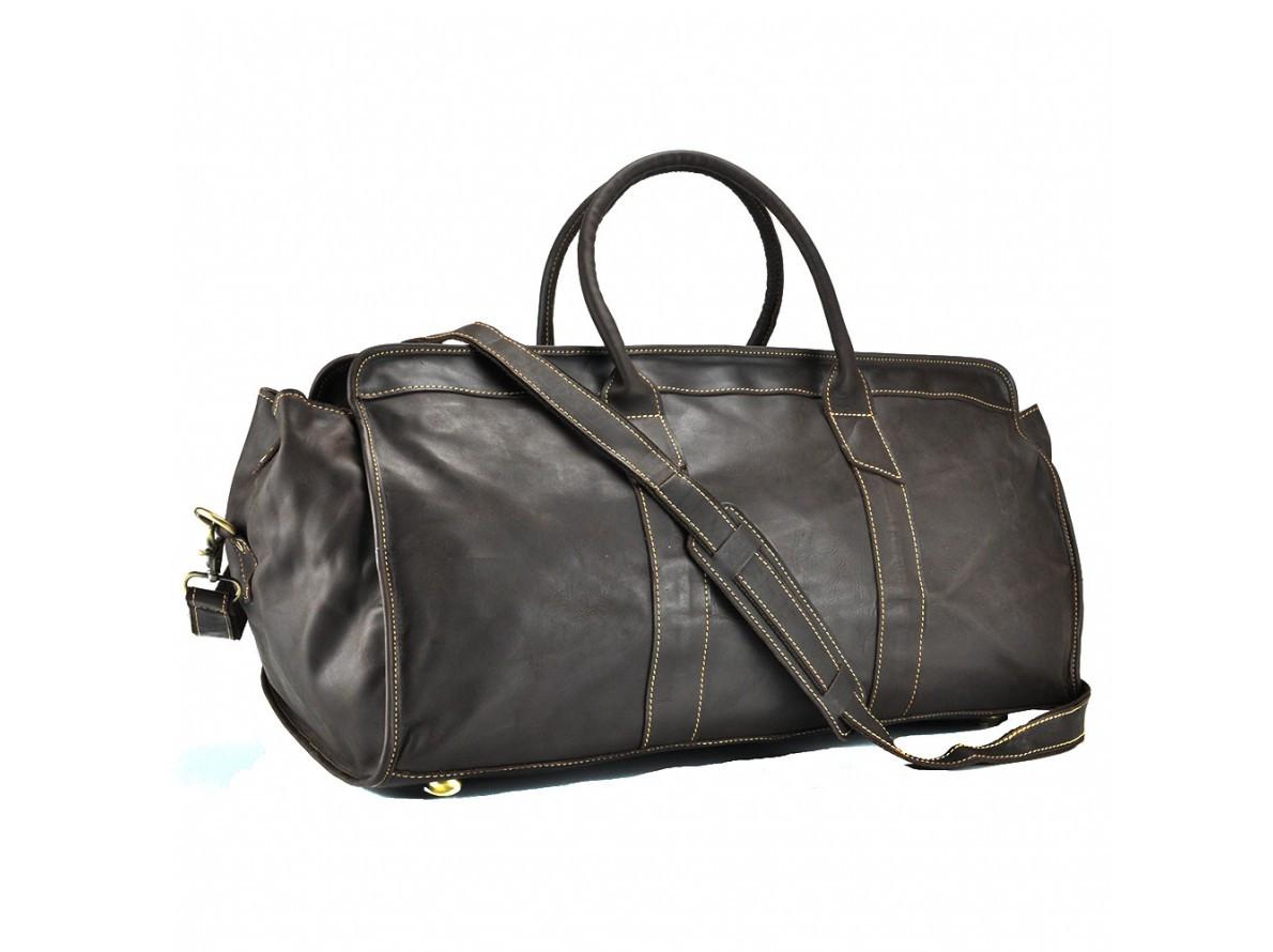 84d247604391 Мужская кожаная стильная большая дорожная сумка для спортзала  темно-коричневая ручная работа - МАГАЗИН КОЖАНЫХ