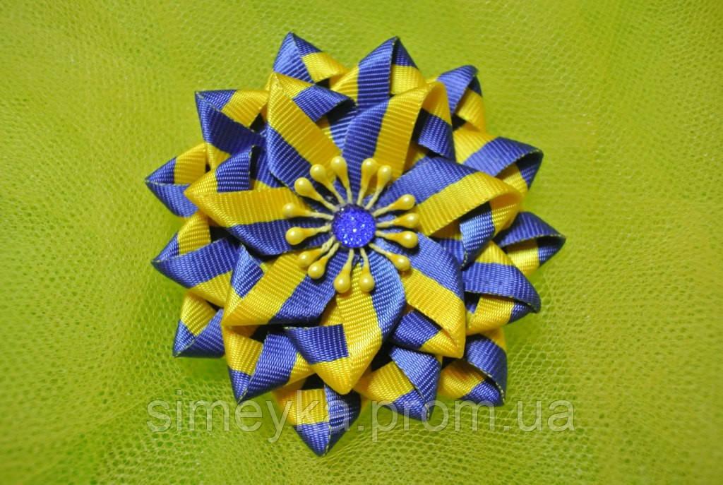 Брошь украинская сине-жёлтая (брошка жовто-блакитна українська)