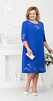 Платье Ninele-7212 белорусский трикотаж, василек, 56