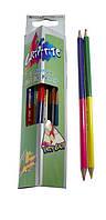 Олівці Марко (Marco) двоколірні трикутні 24 кольору