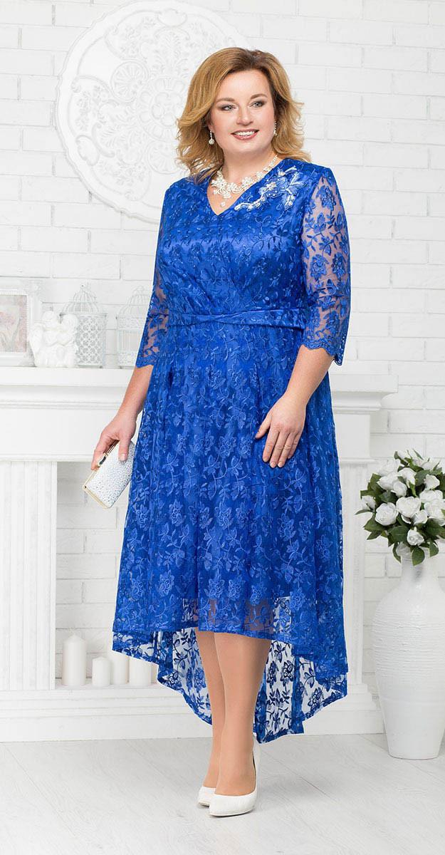 Платье Ninele-5678 белорусский трикотаж, василек, 56