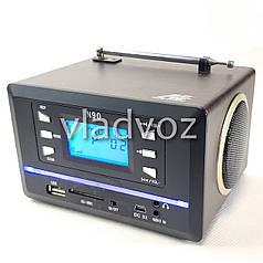 Портативная колонка радио акустика Atfa Sonic N90 коричневая для телефона мини с флешкой usb и sd