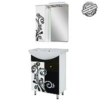 """Комплект мебели для ванной комнаты """"ЧЕРНО-БЕЛАЯ КОВАНКА"""" 60 см."""