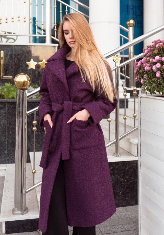 Зимнее пальто «Ницца», ткань букле, утеплитель силикон 150. Размер:42-44,46-48.Цвета разные (5233)