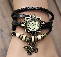 Винтажные часы-браслет с бабочкой