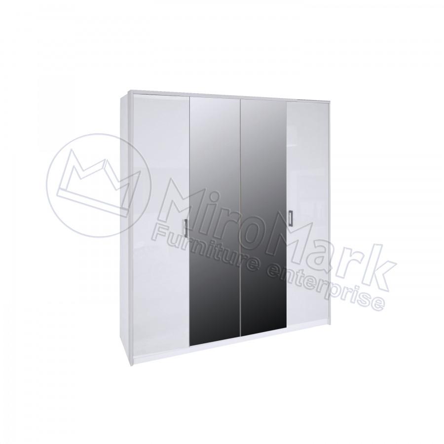Шкаф Рома 4Д с зеркалом Миро-Марк