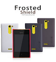 Чехол для Nokia Asha 502 - Nillkin Super Frosted Shield (пленка в комплекте)