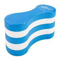 Колобашка для плавания и бассейнадля ног и рукРазмер 21,5 х 15,5 см DolvorEVA Белый-синий (СМИ DLV-2115)