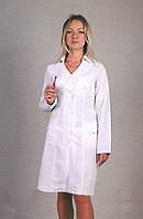 Красивый молодежный медицинский халат длинный рукав