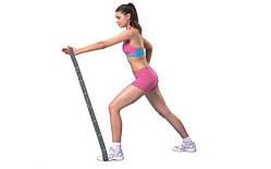 Эспандер ленточный эластичный для фитнеса и йоги Elastiband  (PL, эластан, р-р 5х82см, серый)