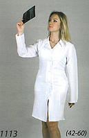 Качественный медицинский халат материал габардин в белом цвете