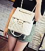 Рюкзак женский трансформер кожзам в стиле Charmy Бежевый, фото 2