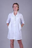 Красивый медицинский халат для беременных батист