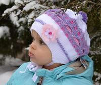 Детская шапка Беретик двойной Малышка(9-18мес) , фото 1