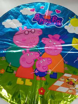 Гелиевый фольгированный шарик с рисунком свинка пеппа