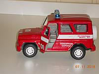 Игрушка пожарная машина джип красно-белый СССР, фото 1