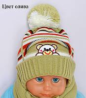 Детская шапка Кармашек, ПЛОТНАЯ