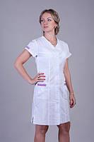 Батальный медицинский халат с коротким рукавом со вставками