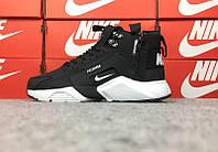"Зимние кроссовки Nike Huarache Acronym Winter ""Black/White"" (Черные/Белые) (реплика А+++ ), фото 1"