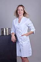 Стильный медицинский халат коттон на пуговицах большие размеры