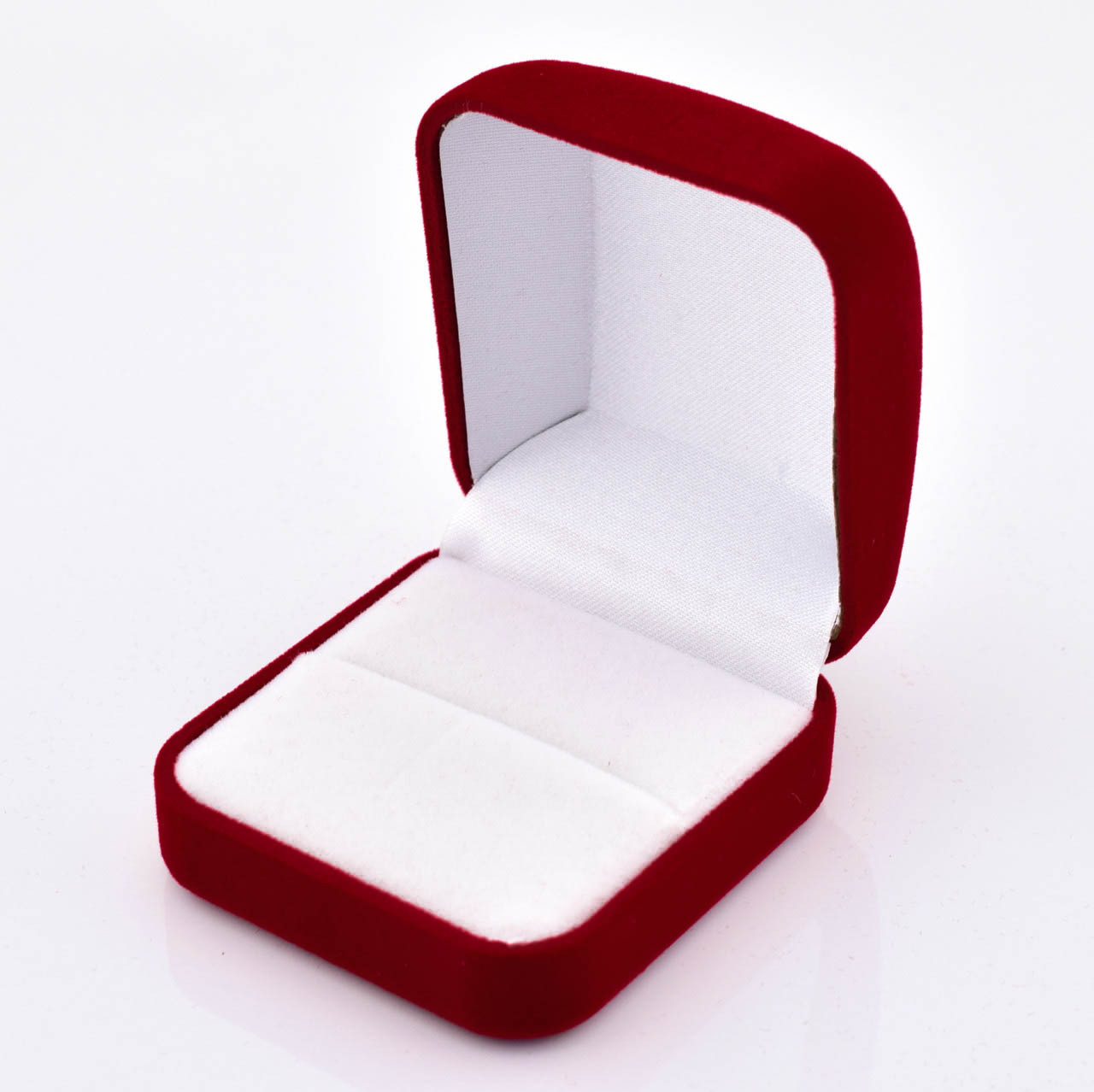 Футляр классика для кольца, бордовый бархат, 53676 размер 5.3*5.8 см