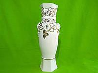 Керамическая настольная ваза резка «Мерайя» (лепка)