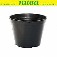 Технічна тара горщик 10 л діаметр 28 см висота 22 см Чорний
