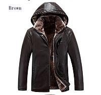 Мужская зимняя кожаная куртка. (01258), фото 1