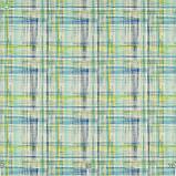Декоративная ткань с размытыми желто-голубыми квадратами Испания, фото 2