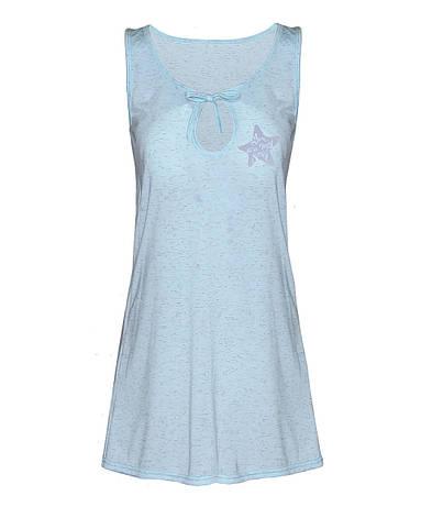 Ночная рубашка Меланж (голубой) 52-56, фото 2