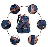 Стильный  рюкзак городской синий BUG ID005-BL, фото 2