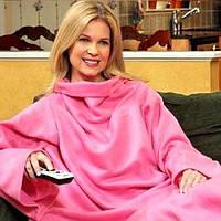 Плед с рукавами Snuggie Снагги флисовый - розовый