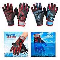 Зимние велосипедные перчатки KINGSIR непродуваемые непромокаемые с удлиненной манжетой и мембраной WINDSTOPPER, фото 1