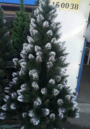 """Новорічна ялинка """"Лідія"""" зелена з білими кінчиками 2 м, фото 2"""
