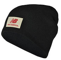 Шапка мужская NEW BALANCE. Зимняя стильная шапка с очень тёплой флисовой подкладкой , ТОП качество!!!Реплика.