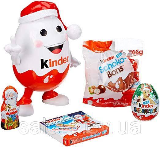 Новогодний Kinder Mix Kinderino Киндерино копилка со сладостями киндер.