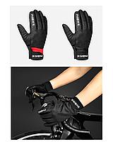 Зимние непродуваемые велосипедные перчатки INBIKE WF109 с мембраной WINDSTOPPER для сенсорных экранов, фото 1