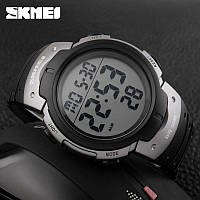 Skmei 1068 серые мужские спортивные часы, фото 1