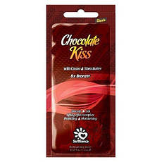 Крем для загара в солярии Solbianca Chocolate Kiss с маслами какао, Ши и бронзаторами, 15 ml